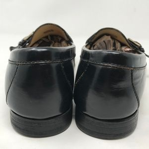 Cole Haan Shoes - Cole Haan Black Leather Kilt Buckle Loafers 9 D